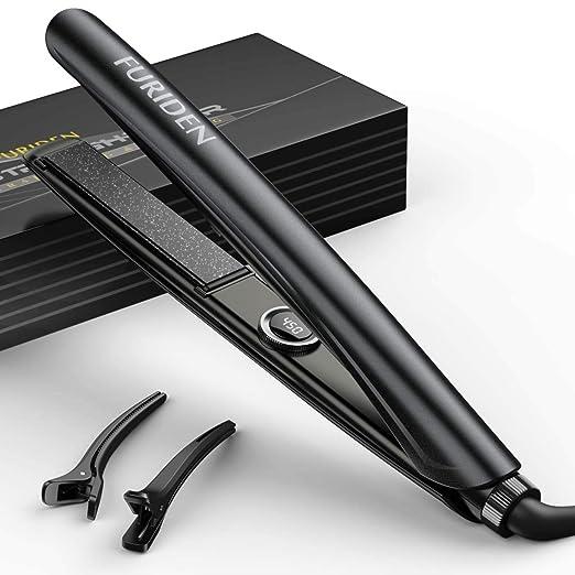 FURIDEN Hair Straightener Iron Professional, Hair Straightener Flat Iron Anti-Scalding, Instant Heat Hair Straightener Dual Voltage best flat iron