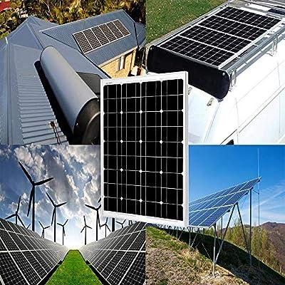SUNGOLDPOWER Solar Panel 60W 12V Monocrystalline Solar Panel 60 Watt Solar Module Grade A Solar Cell : Garden & Outdoor