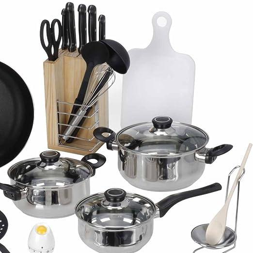 Küchenset Erstausstattung Aussteuer 25-teilig: Amazon.de: Küche ...