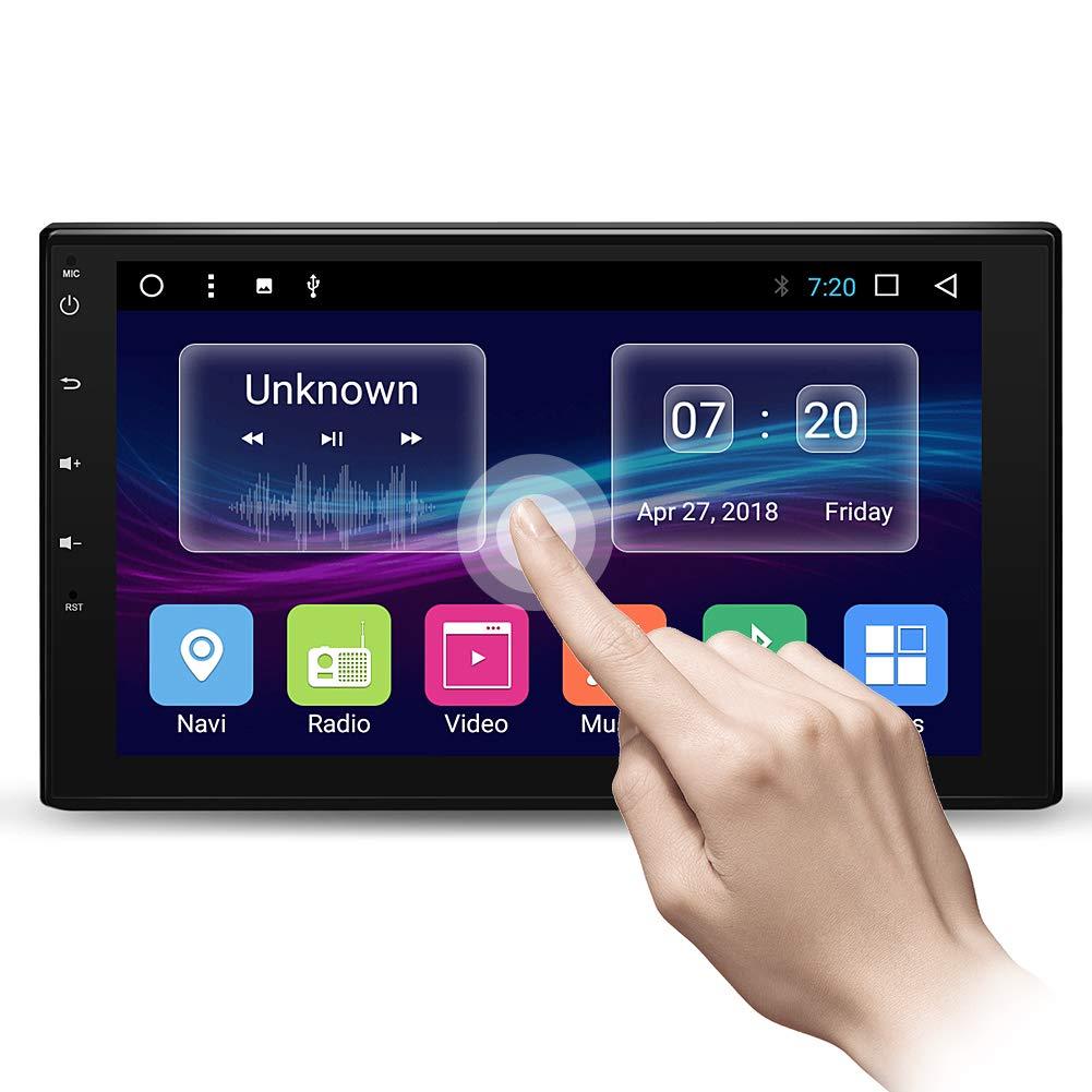Autoradio mit GPS Navigation 7 Zoll HD 1080P Touchscreen Doppel Din Autoradio Bluetooth FM Radio Video unterstü tzt Rü ckfahrkamera Mirror Link AM/FM/USB/TF/AUX AWESAFE