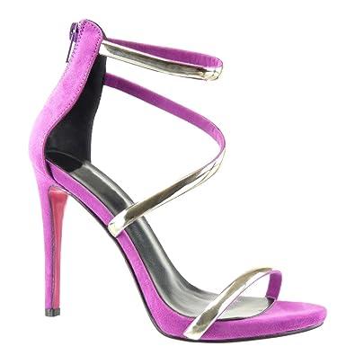 Angkorly Damen Schuhe Pumpe Sandalen - Stiletto - Sexy - String Tanga Stiletto High Heel 11 cm