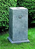 Campania International PD-150-GS Medallion Pedestal, Grey Stone Finish