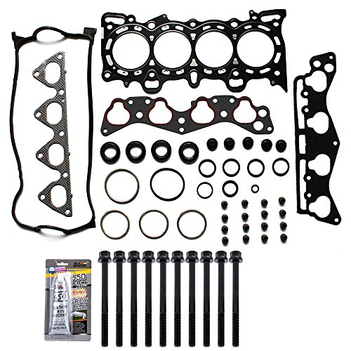 ECCPP Compatible fit for Head Gasket Set for 1996-2000 Honda Civic Del Sol 1.6L D16Y5 D16Y7 D16Y8 Automotive Replacement Engine Head Gasket with Bolts - Valve Engine Honda