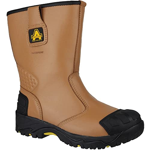 c0354558b41 Amblers Safety Mens FS143 Leather Waterproof Safety Rigger Boots ...