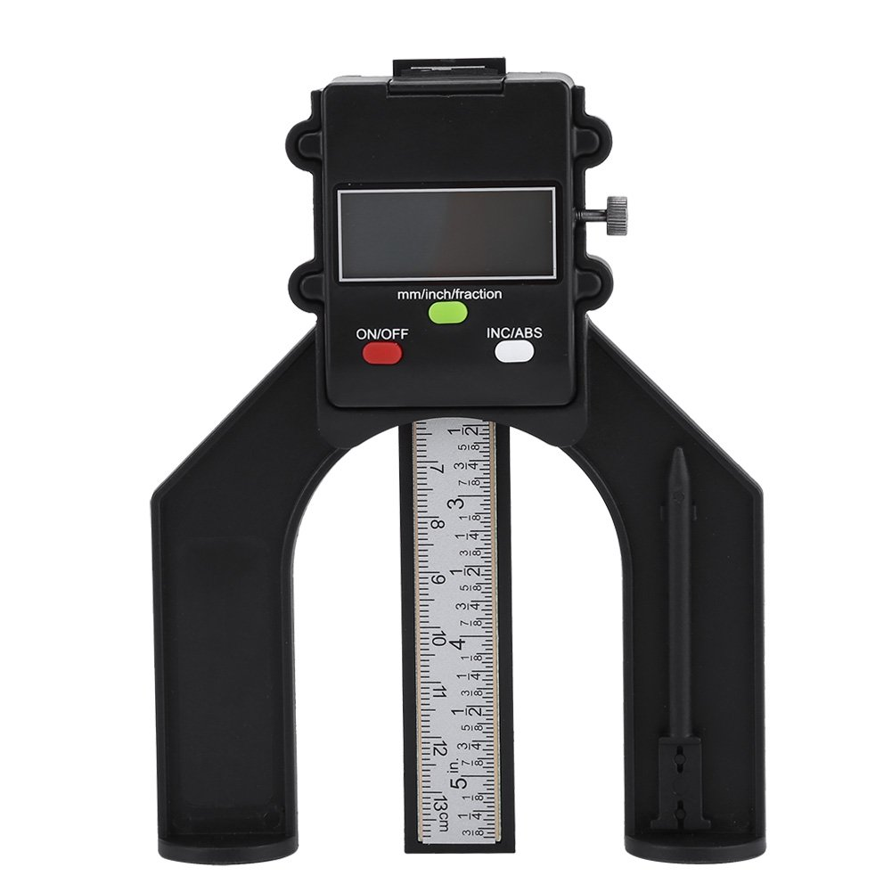 0-80mm Digital Height Gauge Woodworking Depth Gauge with Digit Display and Self Standing Magnetic Feet for Router Table Walfront EXPSFN018981