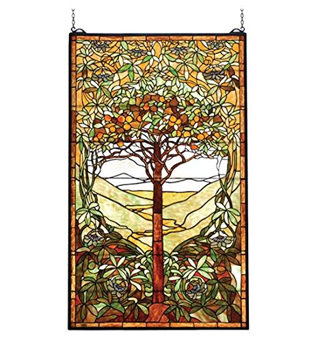 Meyda Tiffany 74065 Tiffany Tree of Life Stained Glass Window