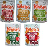 #8: Whisps Cheese Crisps (2.12 ounce) 100% Cheese Low Carb Crunchy Snack Assortment (5 Pack)