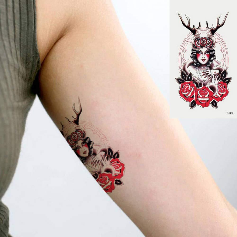 Oottati 2 Hojas Pequeño Lindo Tatuaje Temporal Tattoo Mujer ...