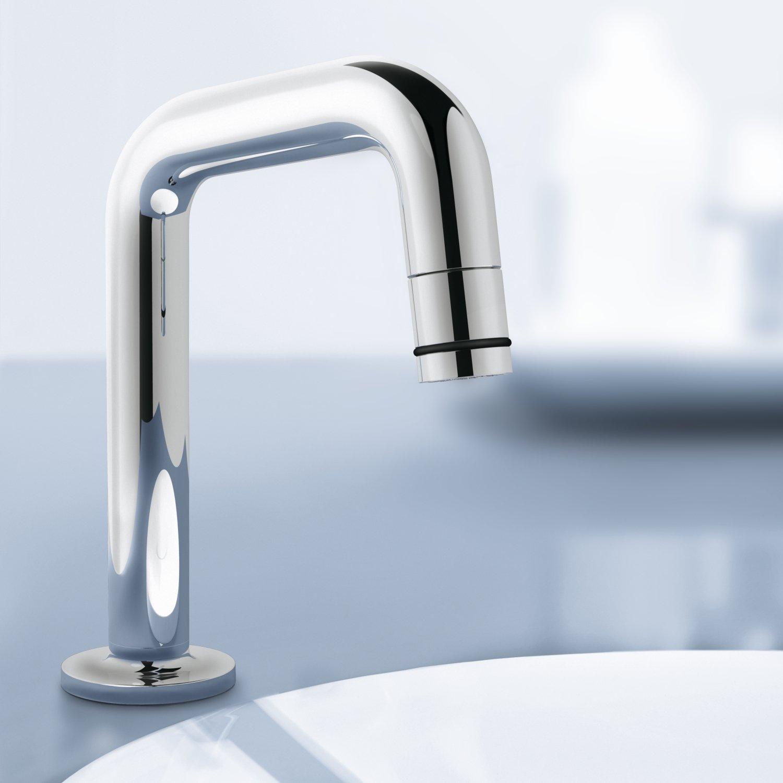 GROHE Universal basin-pillar tap 20202 7-degree-spout chrome ...