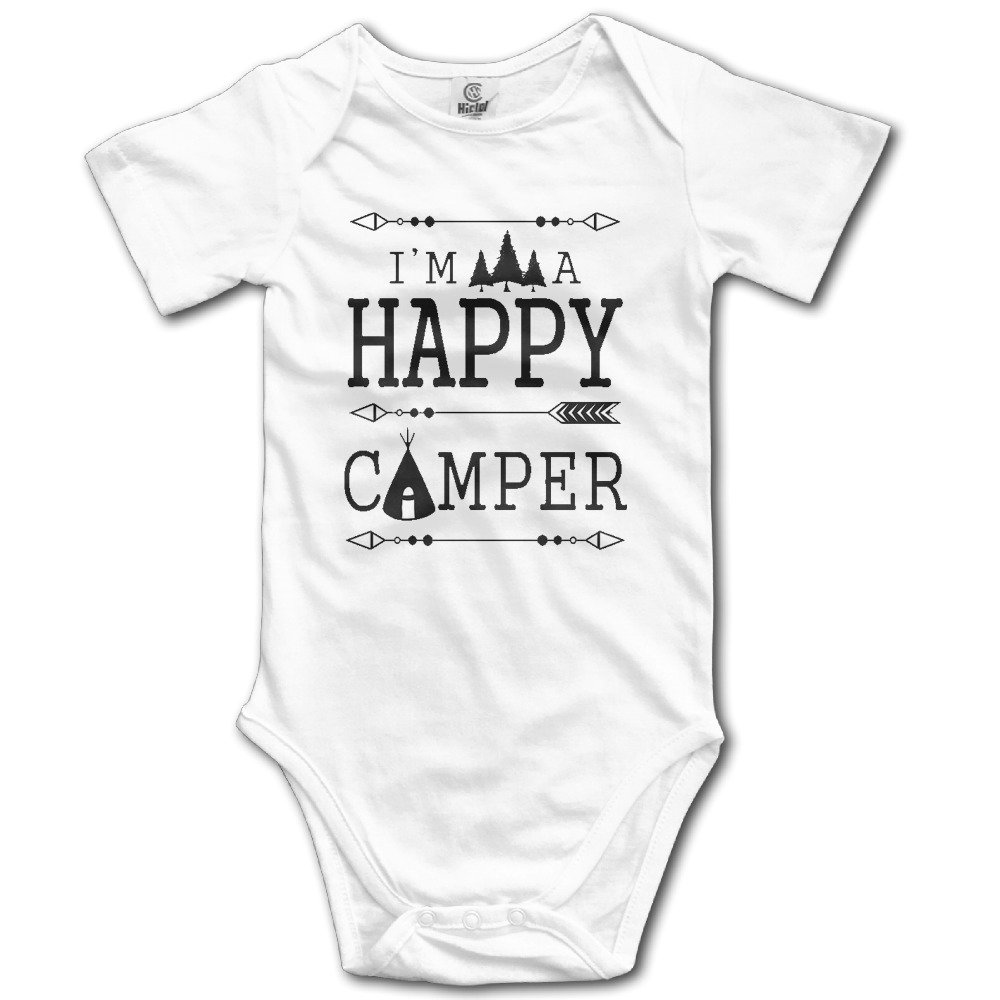 OWLNA I 'm A Happy Camper Toddler Baby Onesies Toddler Clothes