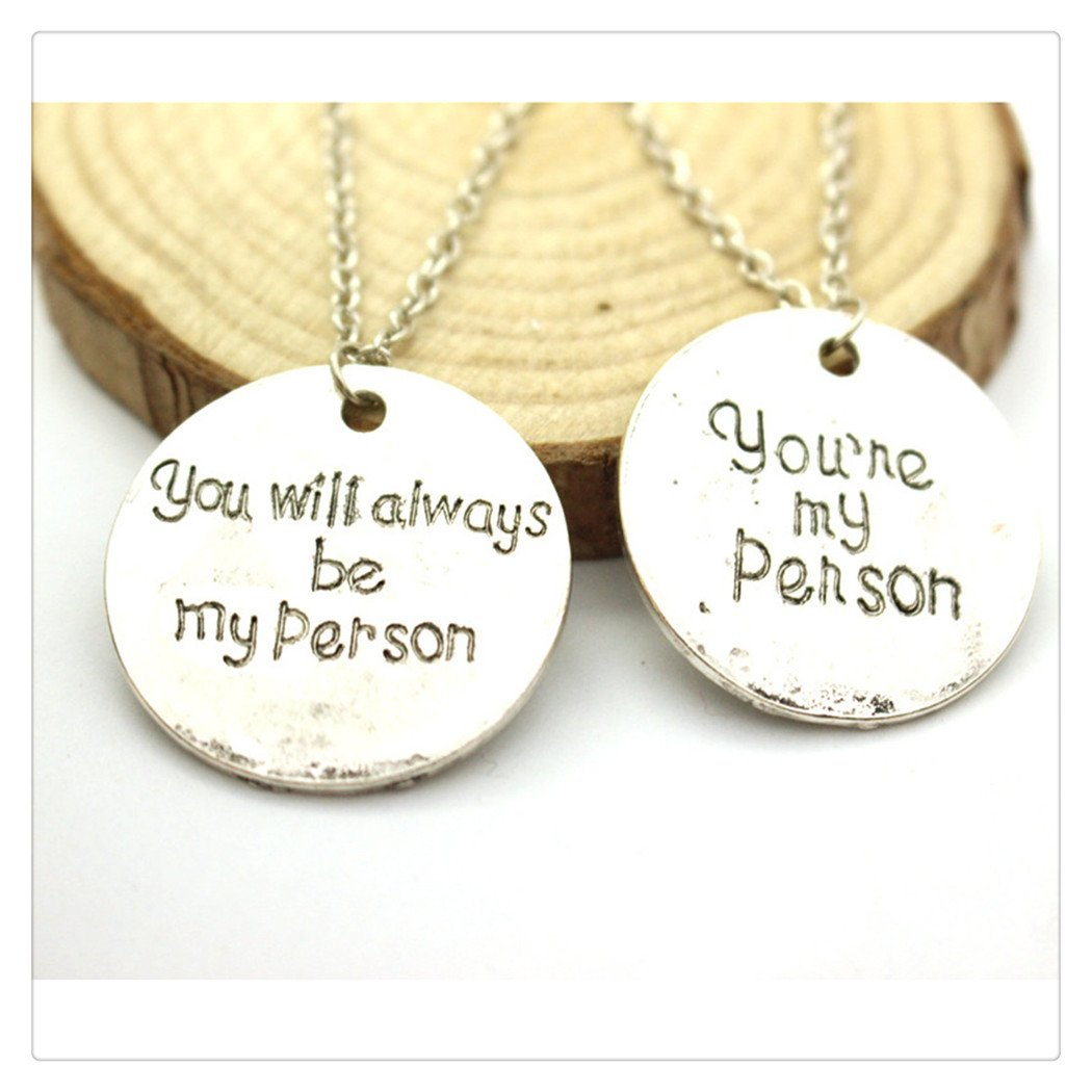You're my Person necklace You will Always be my Person Stainless Steel Friendship necklace