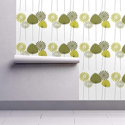 Mid Century Modern Wallpaper Roll Mid Century Dandelion C