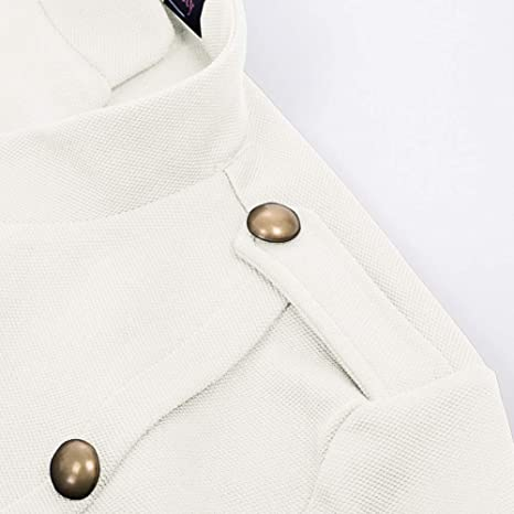 Curlbiuty Damen Mantel Vintage Stehkragen Langarm Cropped