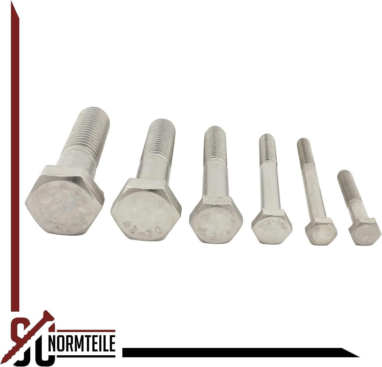 - aus rostfreiem Edelstahl A2 20 St/ück ISO 4014 V2A M5x60 - DIN 931 Sechskantschrauben mit Schaft - Maschinenschrauben - SC931
