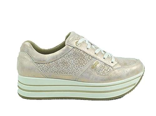 Sportive Scarpe 3160688 Igi amp;co Pelle CipriaAmazon Sneakers Donna RL34jq5A