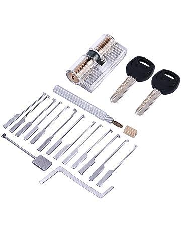 lockmall 14pcs Kaba Lock Opener Locksmith Tool con transparente cilindro de cierre