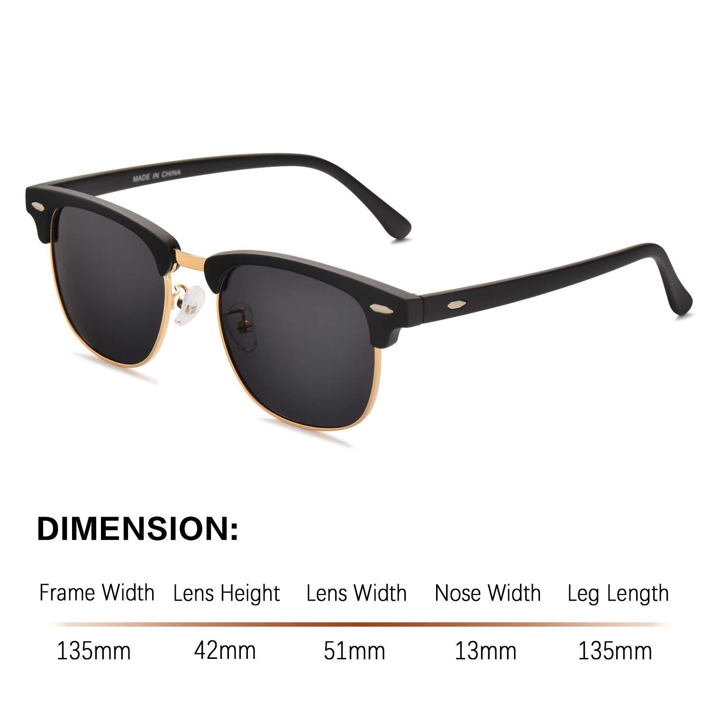 6dba8663c28 Amazon.com  Polarized Semi Rimless Mens Sunglasses