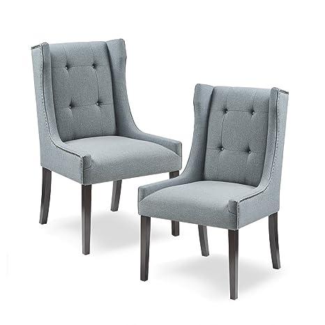 Superb Amazon Com Madison Park Mp108 0664 Nikki Chairs Fabric Machost Co Dining Chair Design Ideas Machostcouk