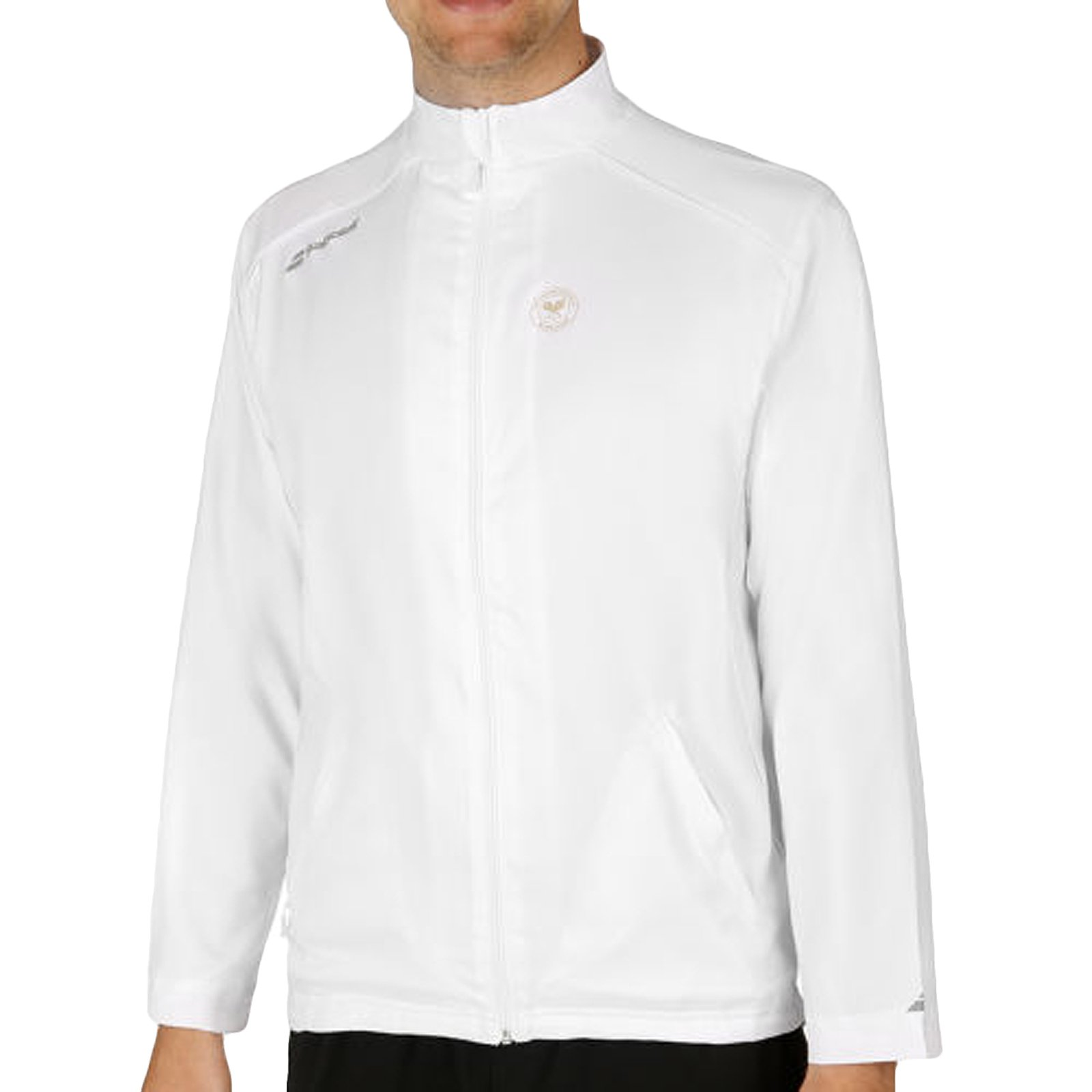 Babolat-Men`s Wimbledon Core Tennis Jacket White-(3324921390017)