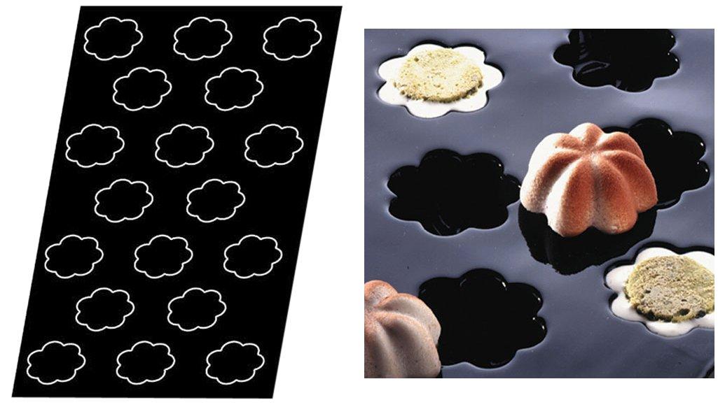 Flexipan 336397 Mini Charlottes Nonstick Sheet Mold