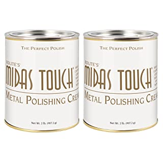 Rolite's Midas Touch Metal Polishing Cream (2lb) with Jewelers Rouge for Gold, Brass, Copper, Bronze, Platinum, Pewter, Sterling Silver 2 Pack
