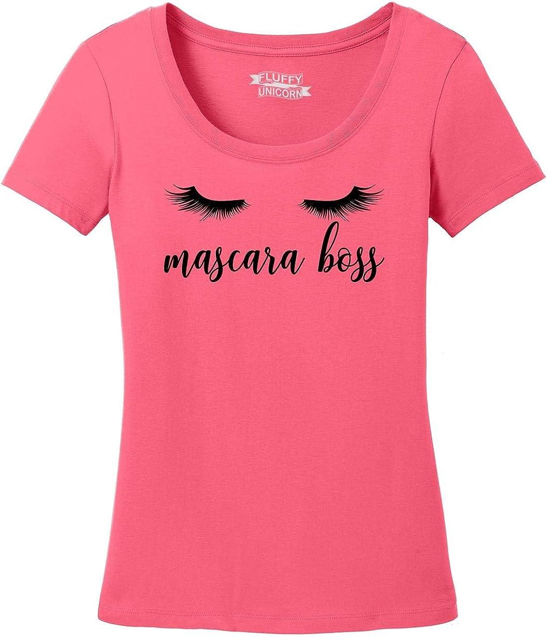 Comical Shirt Ladies Mascara Boss Scoop Tee