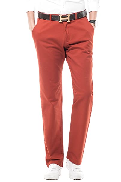 6f2a304f87cbb Harrms Men's Trousers Pants 100% Cotton Regular Fit, Straight Leg,  Formal/Casual/Business/, Plain, 16 Colors