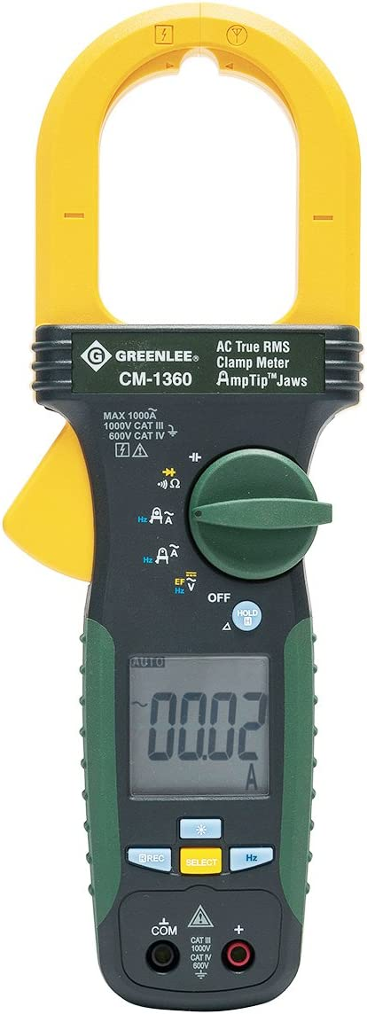 AC//DC Greenlee CM-960-C Calibrated Clamp Meter 600-Amp Greenlee Textron