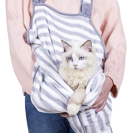 Jiyaru Ropa Delantal Pelo Gato Perro Abrazo Accesorios Cuidado de Mascota Conveniente Moderno