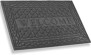 Mibao Entrance Door Mat Winter Durable Large Heavy Duty Front Outdoor Rug Non Slip Welcome Doormat For Entry Patio 24 X 36 Inch Grey Garden Outdoor