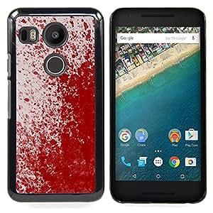 "Qstar Arte & diseño plástico duro Fundas Cover Cubre Hard Case Cover para LG GOOGLE NEXUS 5X H790 (Paint Blood Splash Arte Moderno Rojo aleatoria"")"