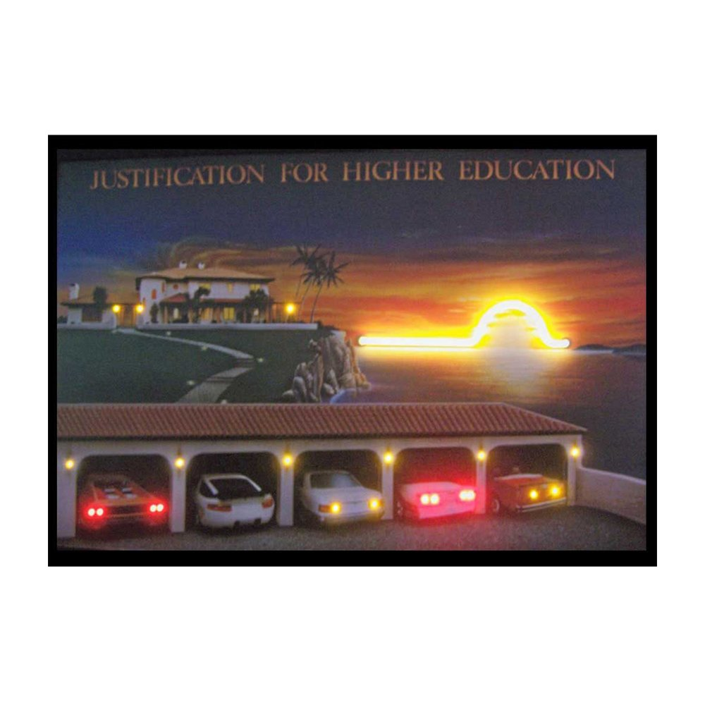 Neonetics Indoor Decoratives Justification For Higher Education Neon/Led Picture