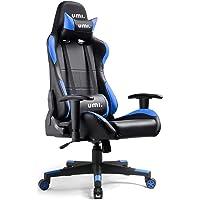 UMI. Essentials Gaming Stuhl Computerstuhl Chefsessel Bürodrehstuhl Höhenverstellbarer Schreibtischstuhl Ergonomisches Design mit Verstellbaren Armlehnen und Wippfunktion