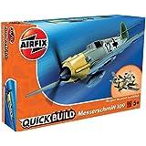 エアフィックス クイックビルドシリーズ ドイツ空軍 メッサーシュミット Bf109 塗装済みブロック式組み立てキット QB6001 プラモデル