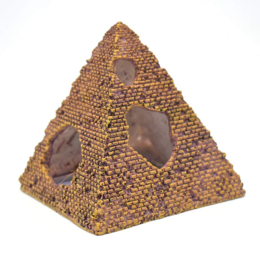 Doitsa Decoración del Acuario, Pirámide, Mini Simulación Creativa, Adecuada para el Comedor Sala de Estar Acuario, Pecera Decoración Peces y Camarones Casa