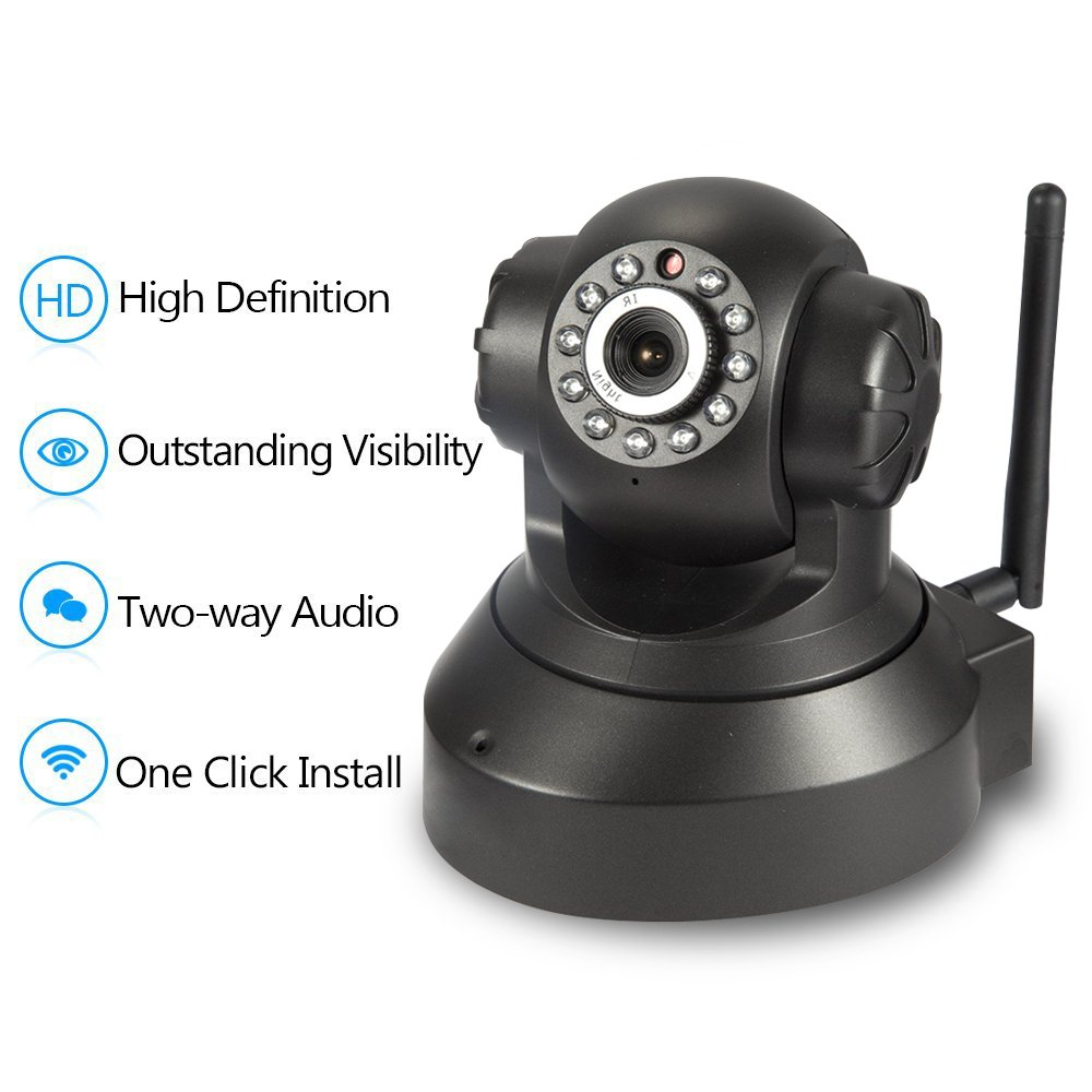 NEW VERSION TENVIS IP Camera -720P IP Camera Supporting Smart Wi-Fi, Night Vision Camera, Smart Camera for Pet Baby Monitor, Home Security Camera Motion Detection Indoor Camera with Micro SD Card Slot by TENVIS