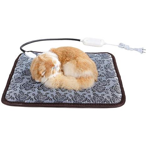 JFJL Cojín De Calefacción Eléctrico del Gato del Perro,Manta Eléctrica para Mascotas Estera De