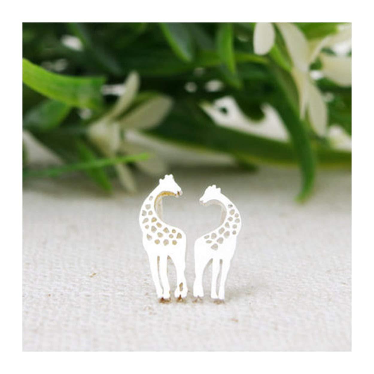 148ce7c92 Amazon.com: MIXIA Minimalist Lovely Post Stud Earring Kissing Giraffes Love  Heart Earrings for Women Cute Animals Ear Stud Earrings Lover Gifts (Gold):  ...