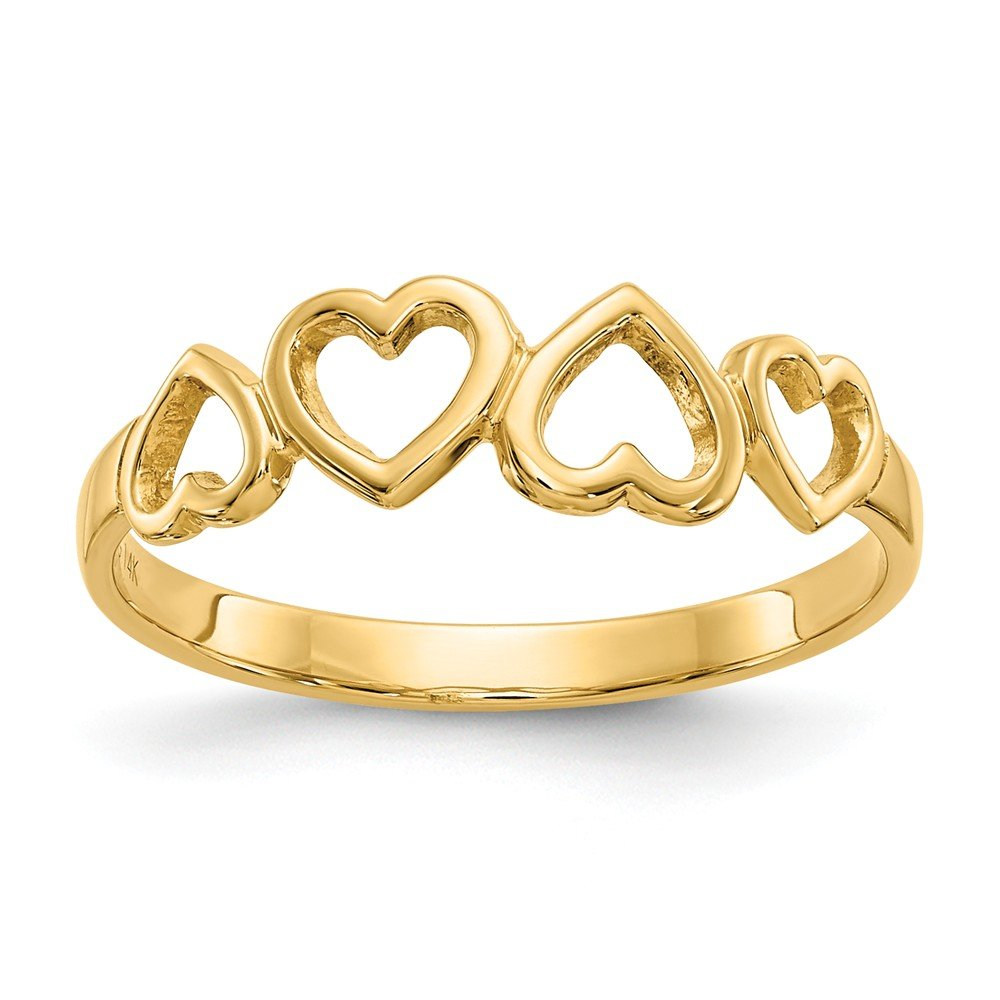 367e12003 Amazon.com: 14k Yellow Gold Heart Band Ring Size 6.00 S/love Fine Jewelry  Gifts For Women For Her: Jewelry