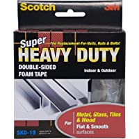 Scotch SKD19 Super Strong Multi-Purpose Flat Surface Mounting Tape, 19 mm x 1.5 m, White