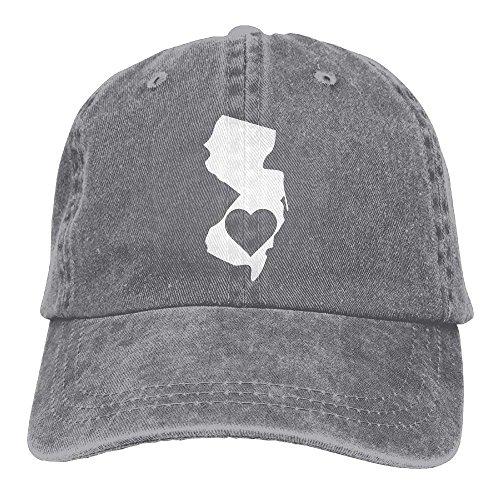 - Eveler Denim Baseball Cap New Jersey Heart State Men Snapback Casquettes Adjustable Dad Hat