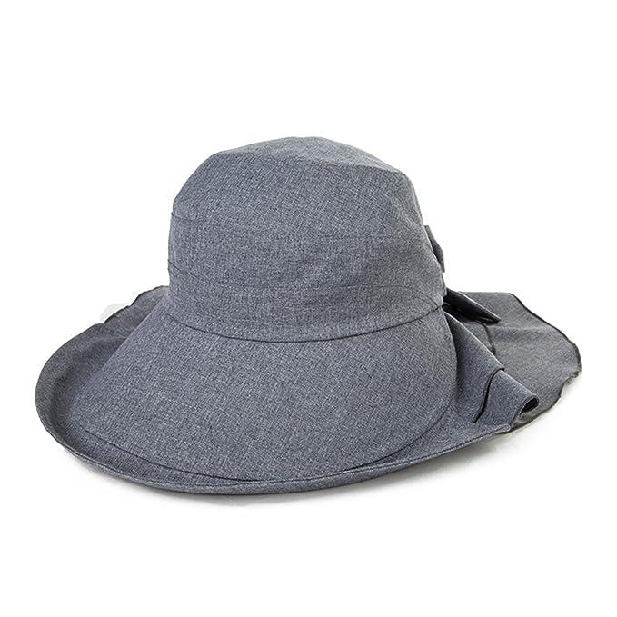 973663b7d7e Siggi Wide Brim Summer Sun Flap Bill Cap Cotton Hat Neck Cover UPF 50+ for