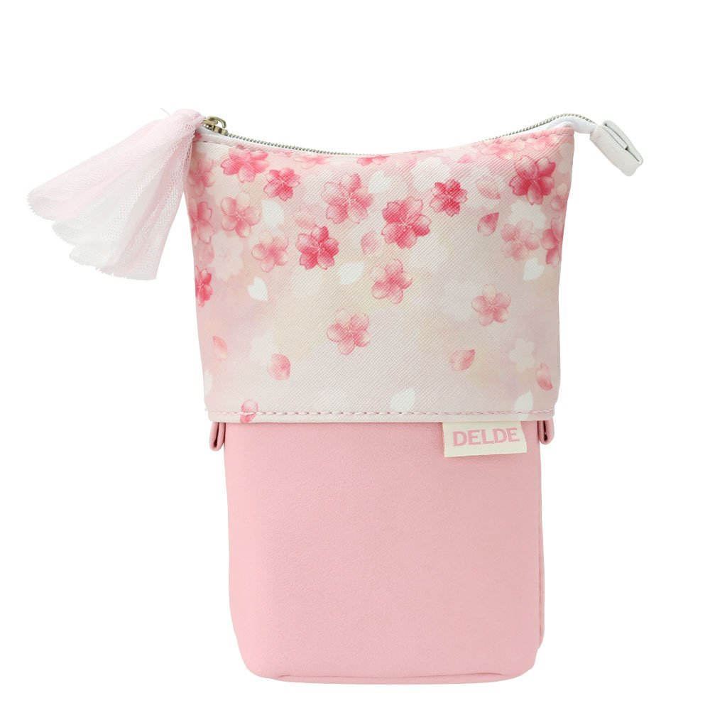 DELDE Cosmetic Pouch, Happy Spring Limited Color Cherry Blossoms Pink