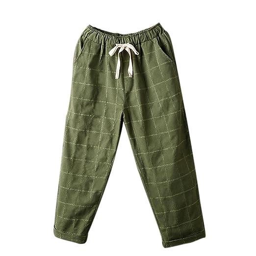 Damen Haremshose cinnamou Sommerhosen Frauen Sport Hosen gestreifte hohe  Taille Pluderhosen elastische Taille beiläufige Hosen Lange fc18f8e53a