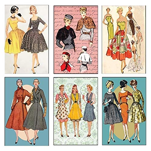 Mini Matchbook Set of 6 Images (Retro Fashion)
