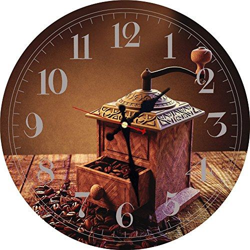 MEISTAR-16 Inch Quartz Movement Decorative Living Room Art European Antique Style Wooden Wall Clock Clock Coffee,Battery Powered