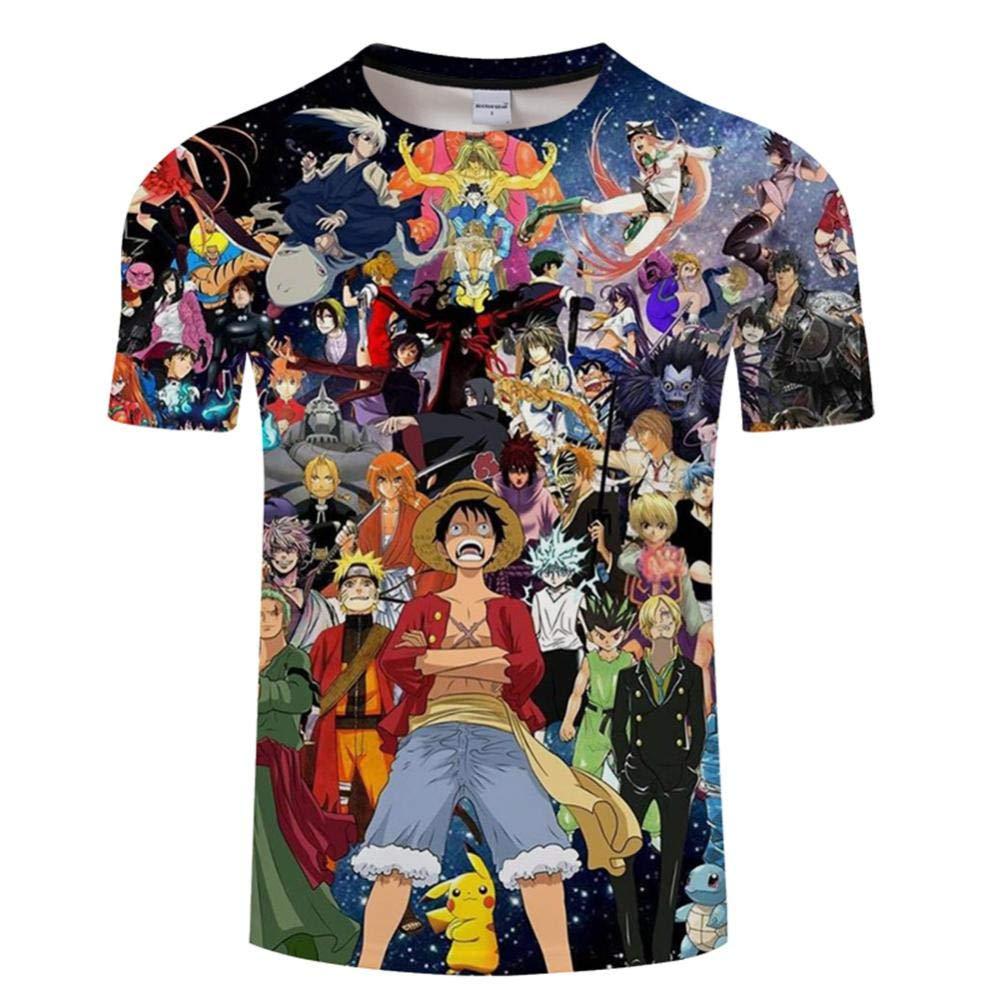 Xrwz Unisex Hombres 3D Patr/ón Impreso Camisetas Verano Casual Manga Corta T-Shirt One Piece XXL