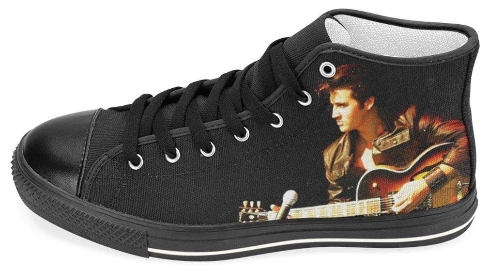 Elvis Comeback Tour Guitar Strumming Fine Art Print Walking Shoes Lady's High Top Sneakers