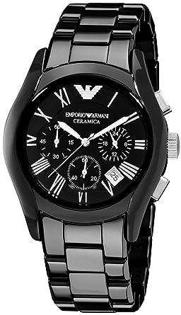 equation Hearing why not  Emporio Armani AR1400 orologio da uomo, in ceramica, colore nero ...