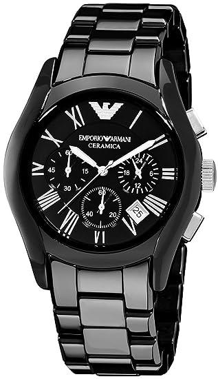 Emporio Armani AR1400 Reloj negro de cerámica para hombre: Amazon.es: Relojes